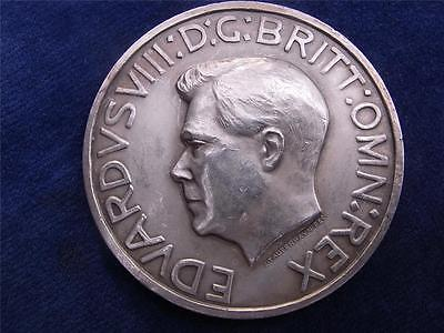 LARGE silver Medal  Proposed CORONATION OF EDWARD VIII 1937 by Tautenhayn RARE