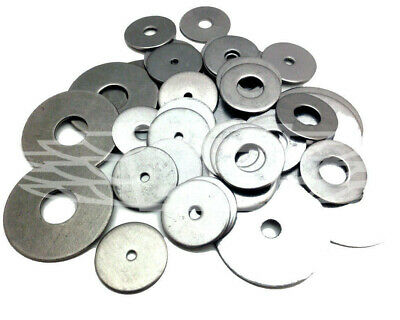 A2 Stainless Steel Metric M4 M5 M6 M8 M10 M12 Large Flat Penny Fender Washers