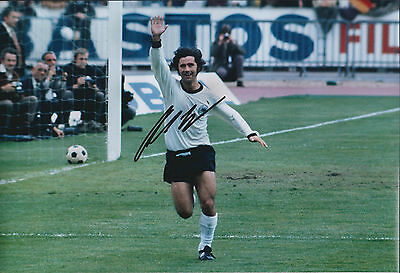 Gerd MULLER Signed Autograph 12x8 Photo AFTAL COA 1974 West Germany Cup Final