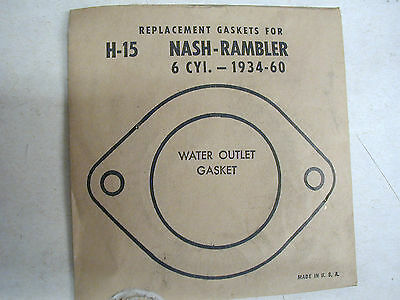 Vintage1934-60 Nash Rambler 6 Cyl Water Outlet Thermostat Housing Gasket
