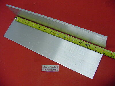"2 Pieces 3/8""x 4"" ALUMINUM 6061 SOLID FLAT BAR 14"" long T6 .38"" PLATE Mill Stock"
