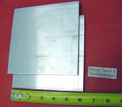 """2 Pieces 1/2""""x 6"""" ALUMINUM 6061 FLAT BAR 6"""" long T6511 Extruded Plate Mill Stock"""