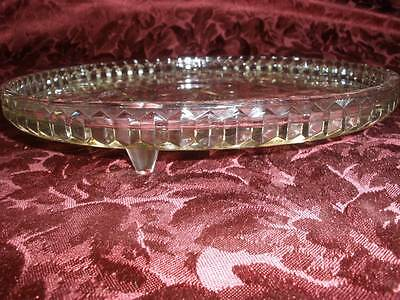 Retro Footed 24 %glass Cake Dish Round Patterned