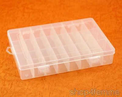Multifunctional Plastic Box with 24 Detachable Compartments - Misc Storage