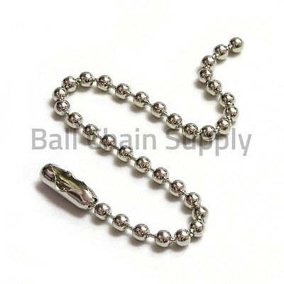 """WHOLESALE LOT 100 BALL CHAIN 2.4mm 30/"""" 76CM 30 Inch Long Nickel Plated"""