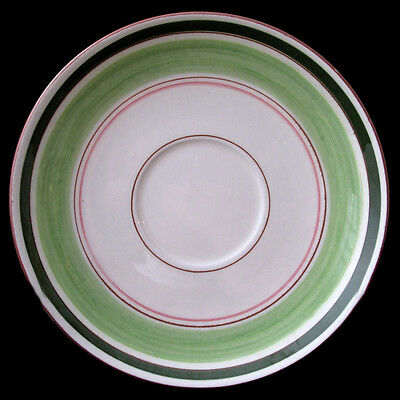 STANGL FLORETTE SAUCER GREEN EDGE AND RIM