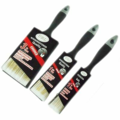 """Buy 3 Get 1 Free Professional Paint Brush 1½"""" 2"""" 3"""" Soft Comfortable Grip Home"""