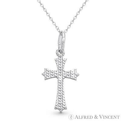 New Coptic Cross Charm Christian Jesus Necklace Pendant in 925 Sterling Silver