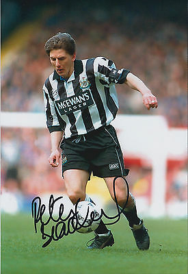 Peter BEARDSLEY SIGNED FC 12x8 Photo AFTAL Newcastle United NUFC Magpies
