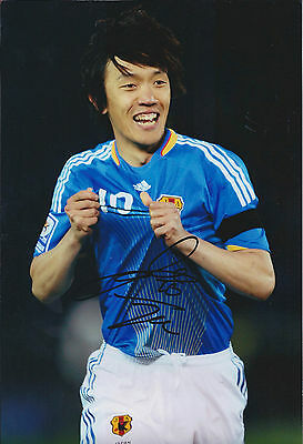 Shunsuke NAKAMURA SIGNED Autograph 12x8 Photo AFTAL COA Genuine Japan Football
