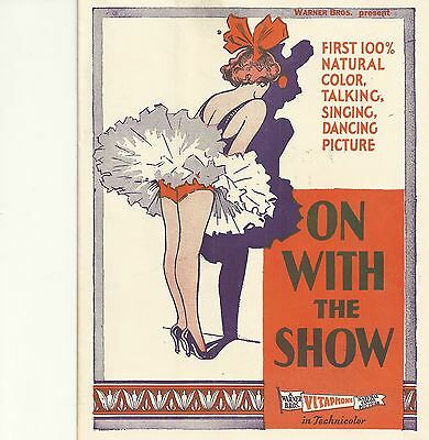 ON WITH THE SHOW(1929)1ST 100% NATURAL COLOR TALKING, SINGING DANCING PICTURE!