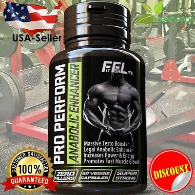 #1 - BEST BODYBUILDING SUPPLEMENT RIPPED LEAN MUSCLE GROWTH GAIN WORKOUT PILLS