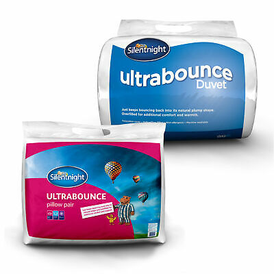 Silentnight Ultrabounce 13.5 tog Soft Hollowfibre Filled Duvet and Pillow Pair