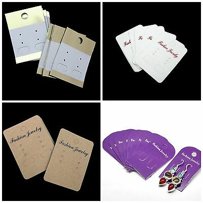 New * Card Earring Display Cards Fashion Jewellery Tools Ear MANY COLOURS  ML