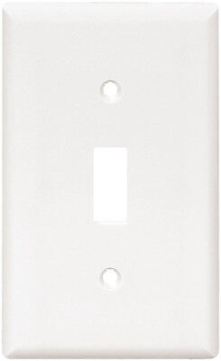 New Cooper Wiring Devices 2134W-SP-L 1-Gang Standard Size Toggle Plate, White
