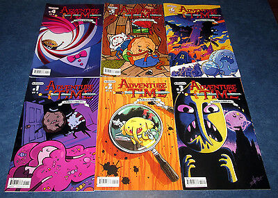 ADVENTURE TIME CANDY CAPERS 1 2 3 4 5 6 1st print A set kaBOOM COMIC JAKE & FINN