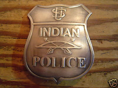 BADGE: U.S. INDIAN POLICE, Native American, Lawman, Old West