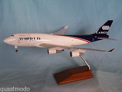 World Airways Cargo Boeing 747 - 400 Desk Model Skymarks Executive