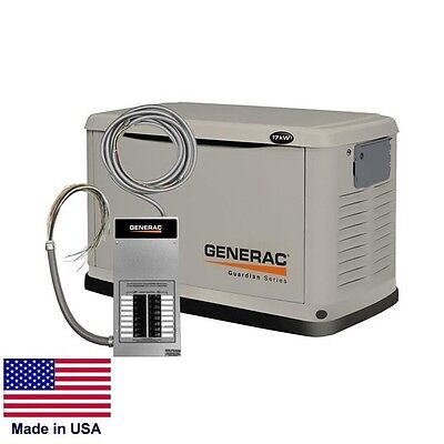 STANDBY GENERATOR Residential 17,000 Watt - 17 kW - NG & LP - Transfer Switch