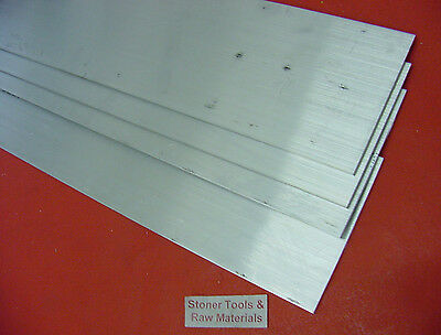 "4 Pieces 1/4"" X 4"" 6061 ALUMINUM FLAT BAR 10"" long T6511 .250"" Plate Mill Stock"
