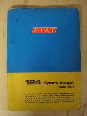 FIAT 124 SPORT COUPÉ - Car Parts List (Body Only) - Oct 1969 #603.10.215 1st Ed