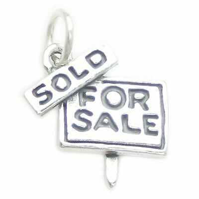 For Sale Sold sign sterling silver charm .925 x 1 Housing Estate charms CF3091