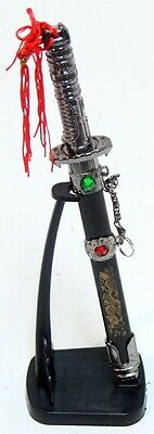 """9"""" Letter Opener Japanese Sacred Sword w/ Stand, Free Priority Shipping"""