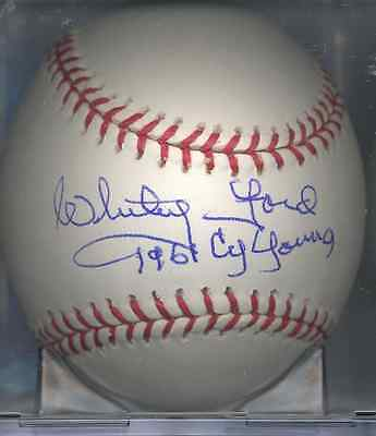 Whitey Ford New York Yankees 1961 Cy Young Autographed Signed OML Baseball COA