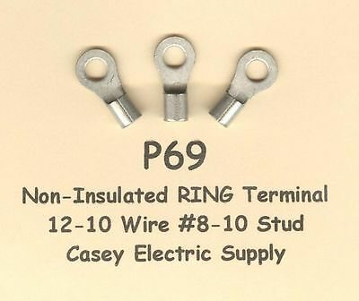 50 High Temperature RING Terminal Connector 12-10 Wire Gauge AWG #10 Stud 900°F