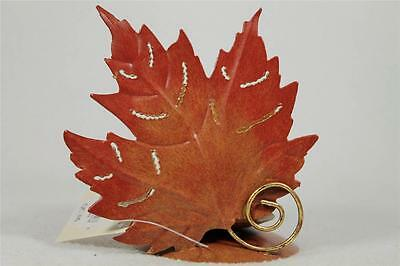 Metal Maple Leaf With Glass Votive Candle Holder Fall Piece  NEW!