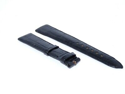 Black New Genuine Rolex Leather Crocodile Strap Band 20mm Fits Datejust/Day-Date