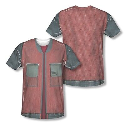 Back To The Future Vest All Over Sublimation Adult Shirt S-3XL