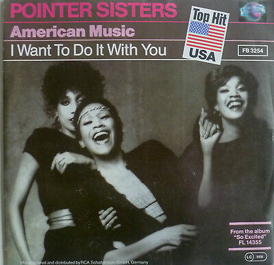 "7"" 1985 RARE IN MINT-! POINTER SISTERS : American Music"