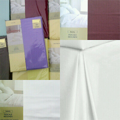 High 180 Thread Count Percale King Size Frilled Base Valance Various Colours
