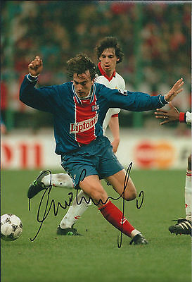 David GINOLA SPURS SIGNED COA Autograph 12x8 Photo AFTAL In Person Tottenham