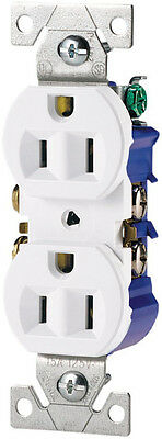 Cooper Wiring Devices 270W-SP-L Duplex Receptacle with 15-Amp, 125v, White