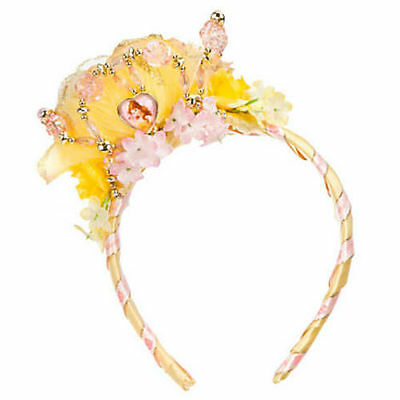 Disney Store Belle Tiara Crown Yellow Floral Blossom Costume Headband