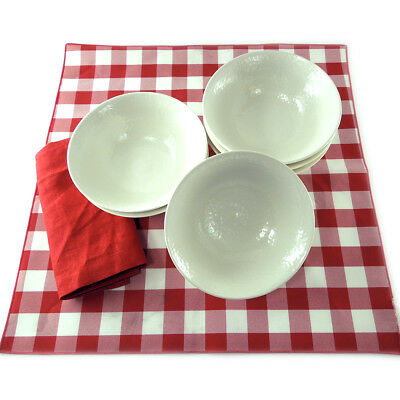 "Heavyweight 7"" Textured Melamine Restaurant Bowls Lot Of 6"