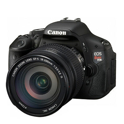 Canon EOS Rebel T3i 18 MP CMOS DSLR With 18-200MM F/3.5-5.6 IS EF-S Lens
