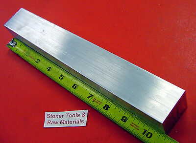 "1-1/2"" X 1-1/2"" ALUMINUM 6061 SQUARE FLAT BAR 10.5"" long T6511 Solid Mill Stock"