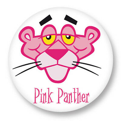 "Pin Button Badge Ø25mm 1"" BD Dessin Animé Cartoon Panthere Rose Pink panther"