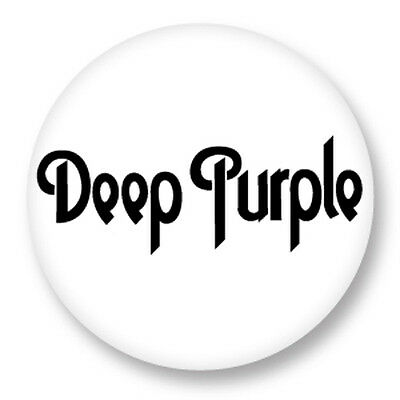 "Pin Button Badge Ø25mm 1"" Deep Purple Hard Rock Ian Gillan Roger Glover"