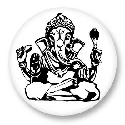 "Pin Button Badge Ø25mm 1"" Religion Religious Religieux Dieu Hindouisme Ganesh"