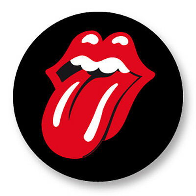 "Pin Button Badge Ø25mm 1"" Rolling Stones Tongue Langue UK Mick Jagger The Stones"