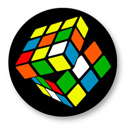 "Pin Button Badge Ø25mm 1"" Rubik's Cube Cube de Rubik Casse Tete"