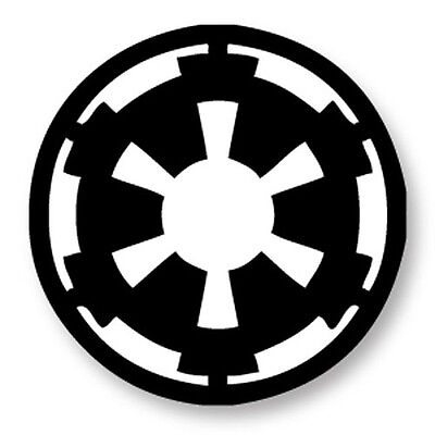 "Pin Button Badge Ø25mm 1"" Star Wars Galactic Empire Logo Vestiges de l'Empire"