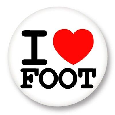 "Pin Button Badge Ø25mm 1"" ♥ I Love You j'aime Sport Foot Football Soccer"