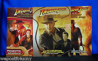 Indiana Jones Activity Books 3 Pack Collectors Guide With INDIANA JONES  Poster