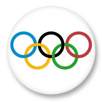 Pin Button Badge Ø38mm JO Jeux Olympiques Olympic Games Rings Sport Olympie