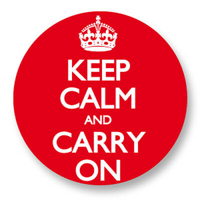 Pin Button Badge Ø38mm Keep Calm And Carry On UK